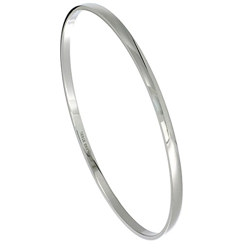 Stainless Bangle Bracelet Stackable Seamless