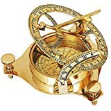 Unique Christmas Gifts Solid Brass Classic Sundial Compass Hiking Climbing Biking Hunting Camping Survival Compass Outdoor Navigation Directional Nautical Liquid Filled Compass Housewarming ()