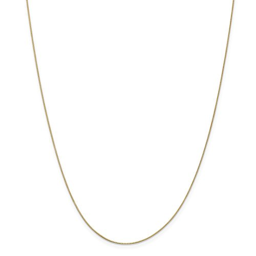 14k Yellow Gold .5mm Link Box Chain Necklace 16 Inch Pendant Charm Fine Jewelry Gifts For Women For Her