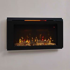 Amazing Classic Flame 36Hf320Fgt Helen 36 Black Wall Mounted Download Free Architecture Designs Crovemadebymaigaardcom