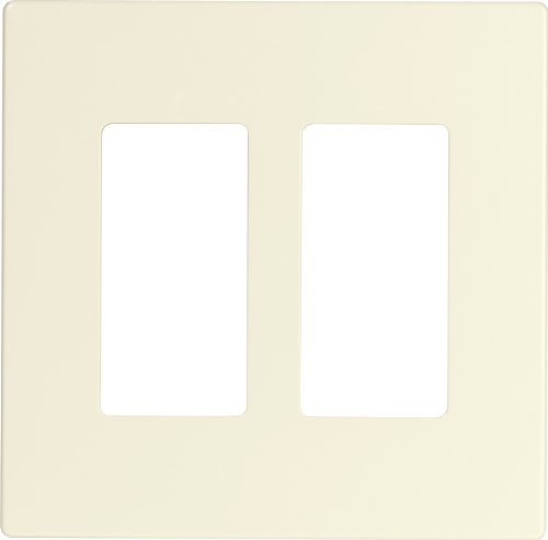 Decorator Style 2 Connector Plate - EATON 9522DS ASPIRE Screwless Wallplate, 2-Gang, Desert Sand