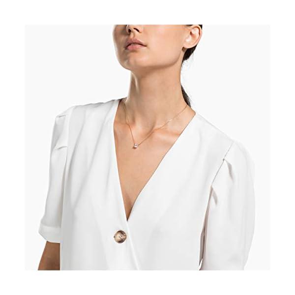 Swarovski Collana Attract, Bianco, Placcato Oro Rosa