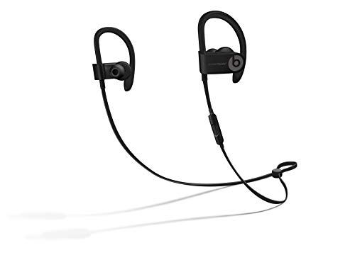 Powerbeats3 Wireless Earphones - Apple W1 Headphone Chip, Class 1 Bluetooth, 12 Hours Of Listening Time, Sweat Resistant Earbuds - Black (Black Wireless)