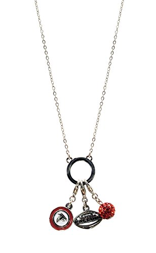 NFL Atlanta Falcons Women's Three Charm Logo Necklace, Silver, Small (Nfl Charm Small)