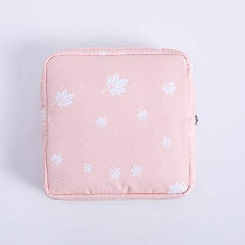 ZSBH ファッション女性小さな化粧バッグトラベルミニ生理用ナプキンは、最大コインマネーカード口紅ストレージポーチ財布バッグを作ります (Color : C)