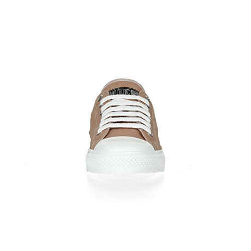 Ethletic Sneaker vegan LoCut Collection 17 - Farbe light clay / just white aus Bio-Baumwolle