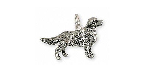 Golden Retriever Jewelry Sterling Silver Golden Retriever Charm Handmade Dog Jewelry GR40S-C