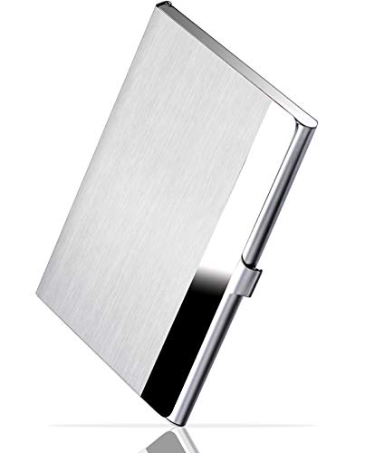 - MaxGear Professional Business Card Holder Business Card Case Stainless Steel Card Holder, Keep Business Cards in Immaculate Condition, 3.7 x 2.3 x 0.3 inches, Silver