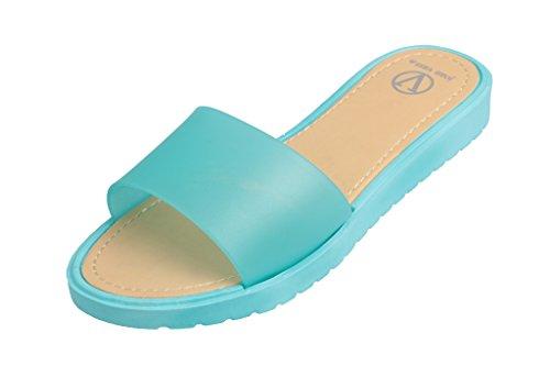 Beverly Stein Kvinners Myk Gelé Lemoon Glide Sandal Flip Flops Aqua