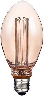 Tecnolite, Foco Vintage LED, Modelo 3DB75LEDFC20VA, Foco Atenueble / Luz Suave Cálida, Base E27, Tamaño 16.2 x
