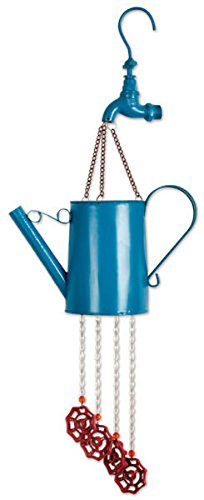 - Sunset Vista Designs Blue Watering Can Wind Chime, 26