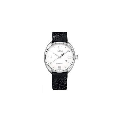 Fendi Leather White (Fendi Momento White Dial Leather Strap Men's Watch F202014011)