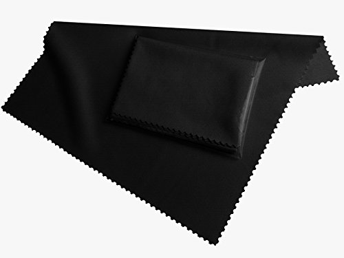 HighTech microfiber display cleaning cloth black - washable (20cm x 19cm) - microfibre for Smartphone, eBook Readers, Tablet PC, glasses FairPrices