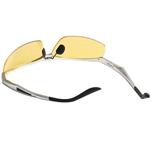 Hombres Conducción de JO671 marco Mujeres Aire al Ciclismo deSol lentes Orange Gafas Jimmy de de Magnesio plata Libre Sol Gafas Calidad Aluminio Polarizado de amarillas Alta gwxR0xT76q