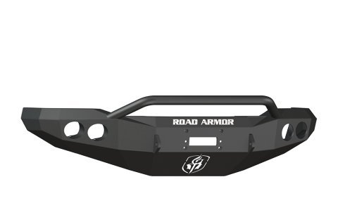 Road Armor 66004B Satin Black Front Stealth Winch Bumper with Pre-Runner Guard for Ford Super Duty (Ford Road Armor)