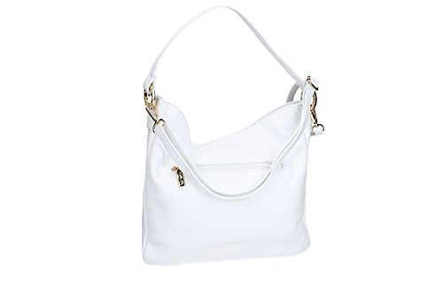 MADE Bag leather INTALY woman white CARDIN with in shoulder VN2250 strap PIERRE UzUpwr