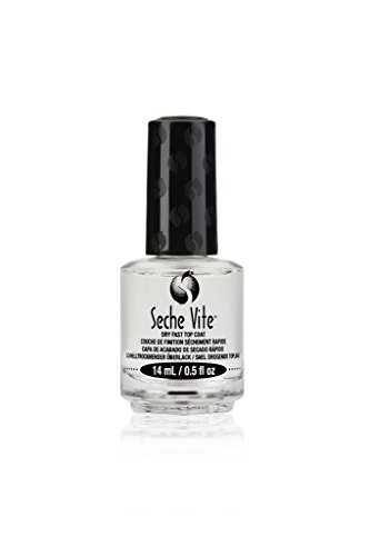 Seche Vite Dry Fast Top Coat Boxed 0.5 Ounce (14ml) (6 Pack) by Seche