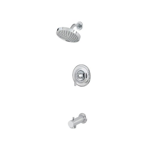 Pfister R89-8NC1 R89-8NC1 Contempra 1-Handle Tub and Shower Combo Trim with Rain Can Shower Head, Chrome Contempra Shower Faucet