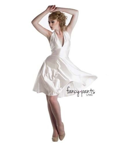 [Ladies Marilyn Monroe Fancy White Dress Costume Outfit Film Star Celebrity Party - U00388 by Henbrandt] (Film Star Fancy Dress Costumes)