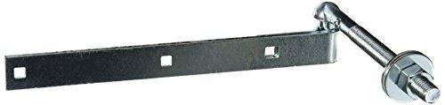 MINTCRAFT LR079 Bolt Hook/Strap Hinge, 12-Inch, Zinc