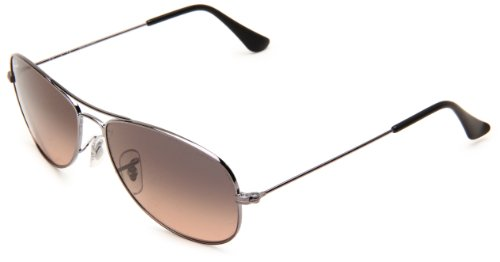 36c70d6f79 Ray-Ban COCKPIT - GUNMETAL Frame CRYSTAL GRAY GRADIENT PINK Lenses 56mm Non- Polarized (B004ZWQRK6)