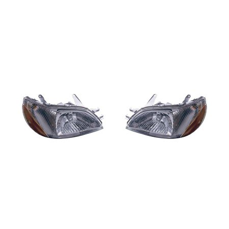 Price comparison product image Toyota Echo 2000-2002 Headlight Assembly Pair Driver and Passenger Side TO2502134,  TO2503134