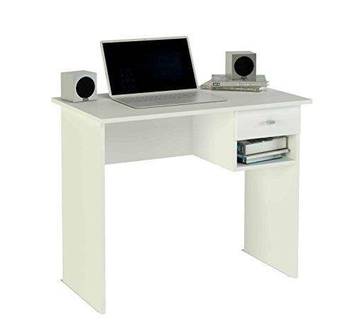Meka-Block K-9453B - Schreibtisch, 1 Schublade, 90 cm breit, Farbe: weiß.