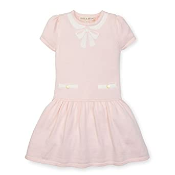 Vintage Style Children's Clothing: Girls, Boys, Baby, Toddler Hope & Henry Girls Pink Sweater Trompe Loeil Dress Made with Organic Cotton $24.95 AT vintagedancer.com