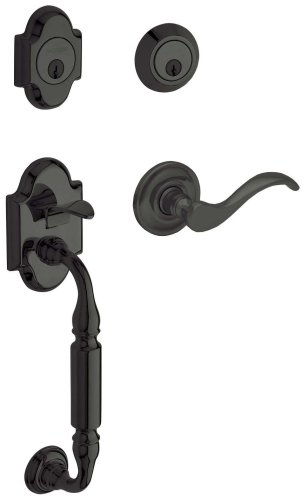 - Baldwin 85305.102.LDBL Canterbury Sectional Trim Left Hand Handleset with Wave Lever, Oil Rubbed Bronze
