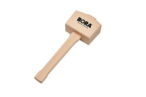"Wooden Mallet 4 ½"" Bora 540049, The Well-Balanced Beechwood Woodworking Mallet That's Ideal for Solid, Damage-Free Striking"
