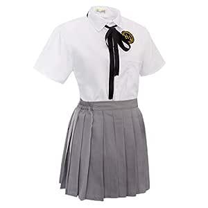 Uniforme de Colegiala Japonesa Camiseta de Manga Corta con Falda ...
