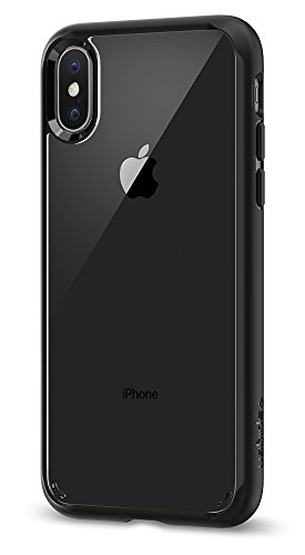 Electronics : Spigen Ultra Hybrid iPhone X Case with Air Cushion Technology and Hybrid Drop Protection for Apple iPhone X (2017) - Matte Black