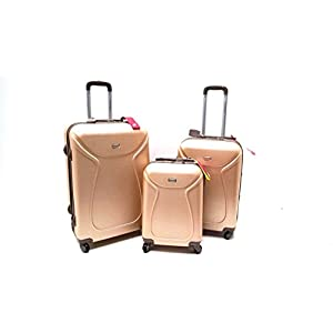 539e178843 SET 3 TROLLEY VALIGE ABS RIGIDO 4 RUOTE COVERI WORLD SET TROLLEY RIGIDI CON  TROLLEY RYANAIR BAGAGLIO A MANO IDONEO cm.55x40x20