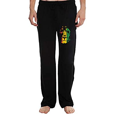 Man's Stylish Training Sweatpants Rasta Background Running Pants with Back Pocket for Home Daily Sports
