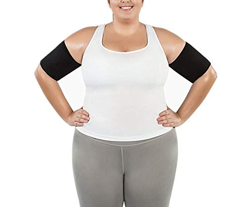 Hot Slimming Arms Plus Body Shapers Arm Warmers Sleeve Trimmers Wraps for Lose Fat Arm Shaper Weight Loss,Black,L ()