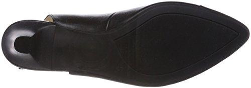 29699 Negro sandalias Caprice Back 22 Sling de Negro Negro Nappa mujeres para qAaZq