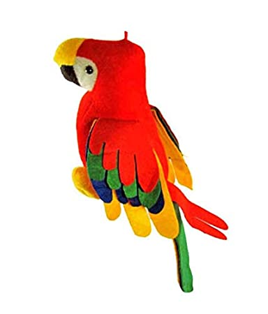 Deals India Musical Parrot Stuffed Soft Plush Toy-21cm