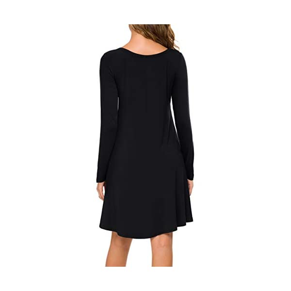 Long Sleeve T Shirt Dresses Casual Swing Dress