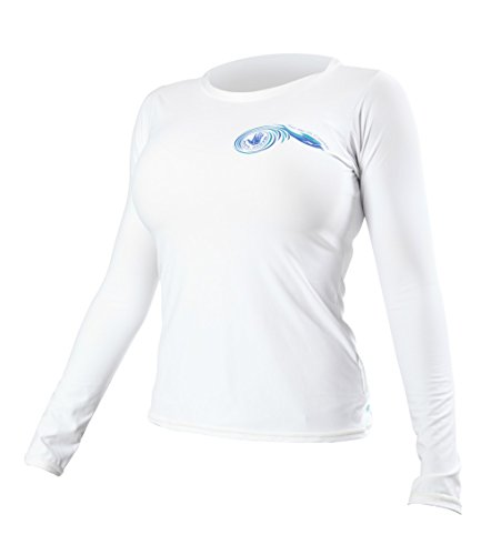 Body Glove Women's JMC Deluxe L/A Loose Fit Rash Guard, White, Large