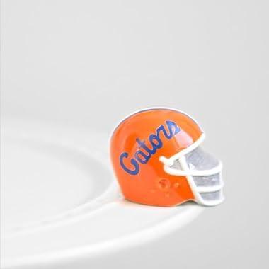 Nora Fleming Mini - University of Florida Football Helmet - Hand-Painted Ceramic Charm - A301