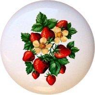 Ceramic Knob - Strawberry Bunch - Vintage Designs
