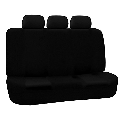 FH Group FH-FB051R013 Universall Bench Seat Cover 40/60 Split and 50/50 Split Black- Fit Most Car, Truck, Suv, or Van