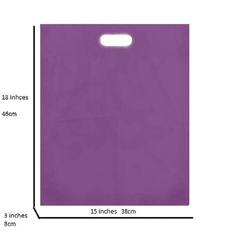 Bolsas de regalo de plástico morado, tamaño grande, 38 x 46 ...
