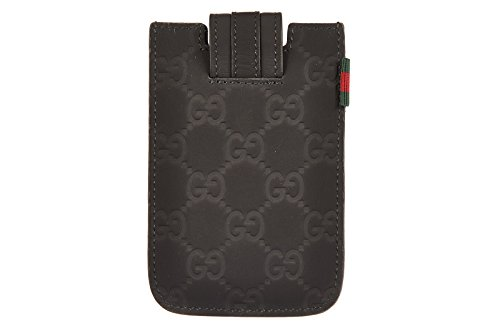 Gucci cover case iphone 4 4s in leather micro blu