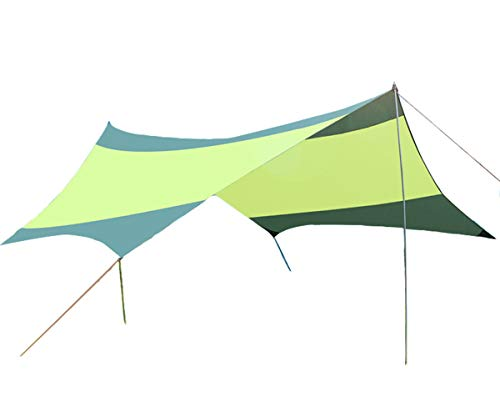 る退屈な雄弁家(フェイスコジー) Facecozy 天幕 タープ ピクニックマット 【5~8人用】 5.5 * 5.6m 防水 日焼け止め UVカット シェード ハイキング アウトドア 大きいサイズ テント キャンプ用 収納袋付