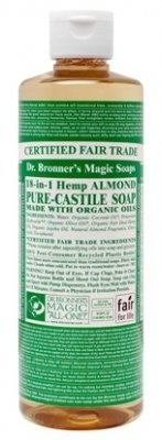 - Dr. Bronner's Almond Liquid Castile Soap 16oz liquid
