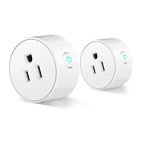 Corner Round Receptacle - WiFi Smart Plug 2 Pack Smart Life APP Control, No Hub Required Smart WiFi socket outlet with Countdown & Timer Function, Compatible with Alexa, Google Home (2.4G WiFi, ETL FCC certificated)
