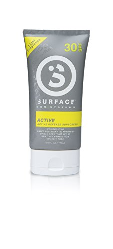 - Surface Active Sunscreen Lotion | Paraben Free & Hypoallergenic Natural Sun Protection | Active Defense Formula | Sweat and Water Resistant Sun Cream