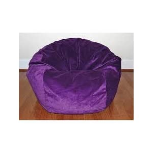 Large XXL Size Purple Color Comfort Suede Bean Bag Chair Cover Only by Ink Craft