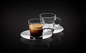 Nespresso Set Glass Collection Espresso Cups /& Saucers,A /& P Cahen Design,New